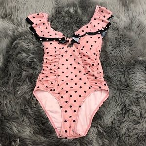 Betsey Johnson One Piece: Polka Dot |Pink (PM1811)